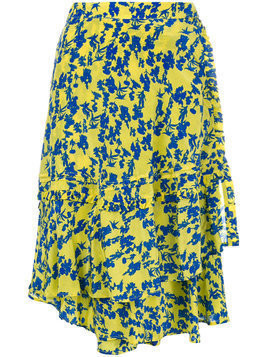 Preen Line asymmetric floral skirt - Yellow