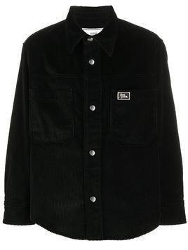 AMI snap buttons overshirt patch pockets Ami Paris woven label - Black