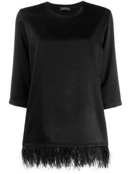 Gianluca Capannolo Diane feather trimming top - Black