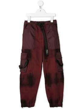 Cinzia Araia Kids panelled cargo pants - Red