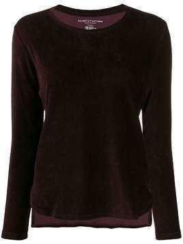 Majestic Filatures corduroy crew jumper - Red