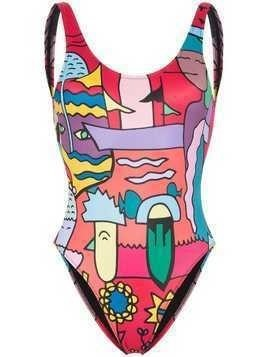 Ellie Rassia Lily printed swimsuit - Multicolour