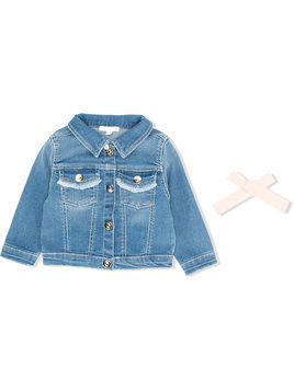 Chloé Kids stretch denim jacket - Blue