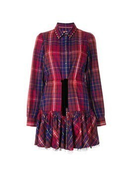Hilfiger Collection checked shirt dress - Red