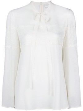 Giambattista Valli chest lace blouse - Nude & Neutrals