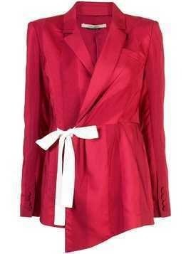 Hellessy side tie striped blazer - Red