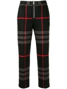 Yang Li cropped plaid print trousers - Black