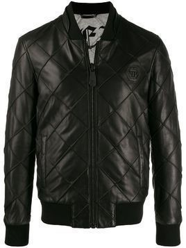Philipp Plein stitch detail bomber jacket - Black