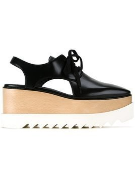 Stella McCartney Elyse cut-out platform shoes - Black