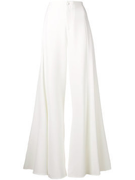Blumarine floor length waterfall trousers - White
