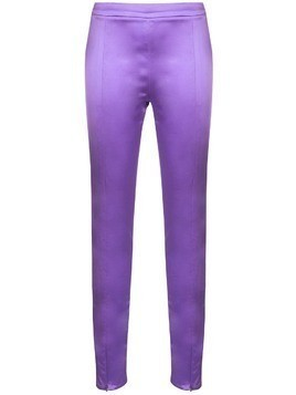 Cynthia Rowley rush stretch satin trousers - Purple