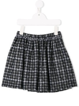 Douuod Kids houndstooth skirt - Green