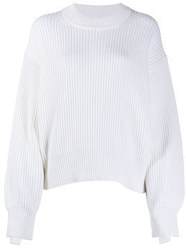 Helmut Lang balloon sleeve knitted jumper - White