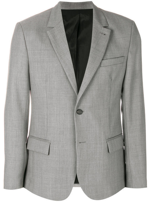 Ami Alexandre Mattiussi Two Buttons Lined Jacket - Grey
