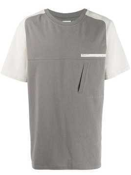 C2h4 panelled T-shirt - Grey