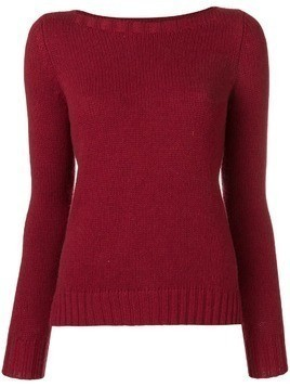 Aragona cashmere knit sweater - Red