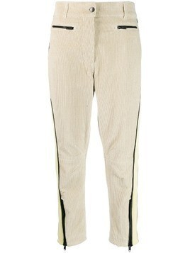 Haider Ackermann cropped corduroy trousers - NEUTRALS