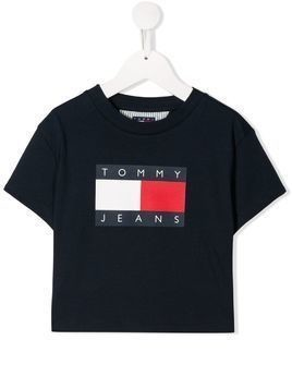 Tommy Hilfiger Junior TEEN logo printed T-shirt - Blue