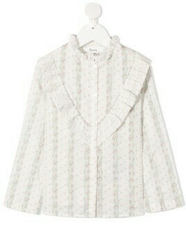 Bonpoint embroidered poplin shirt - White