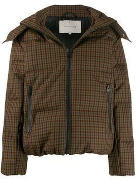 Mackintosh checked down jacket - Brown