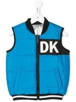 Dkny Kids reversible zip-up gilet - Blue