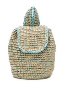 Eshvi Kids x 0711 Tbilisi knitted backpack - Blue