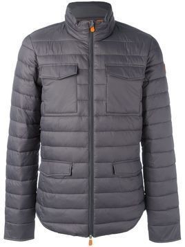 Save The Duck flap pocket padded jacket - Grey