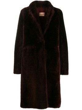 Yves Salomon oversized coat - Red