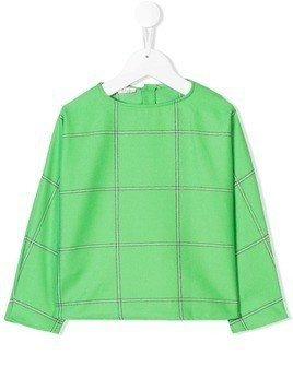 Il Gufo checked top - Green