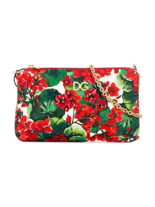 Dolce & Gabbana Kids floral shoulder bag - Red