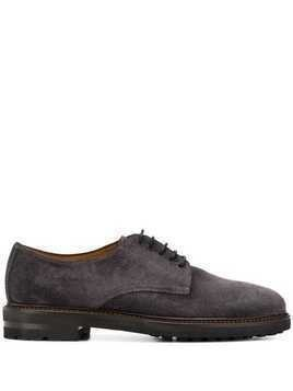 Henderson Baracco perforated toe lace-up shoes - Grey