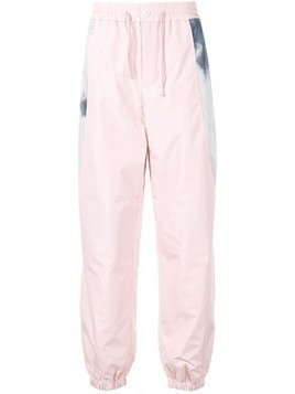 Fengchen Wang panelled track pants - PINK