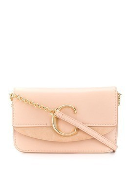 Chloé C plaque crossbody bag - Pink