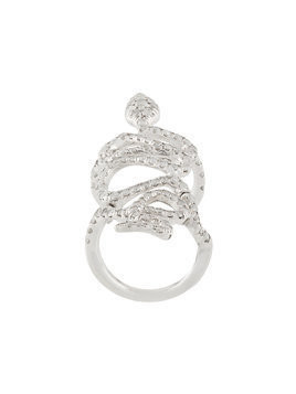 Loree Rodkin 18kt white gold and diamond snake ring