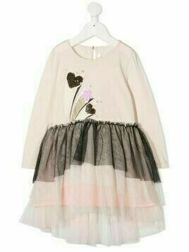 Billieblush tulle layered T-shirt dress - PINK