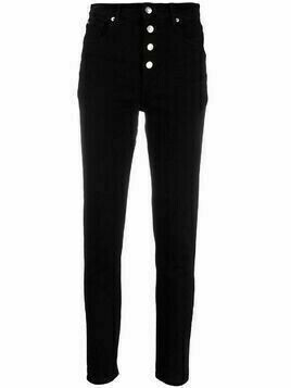 IRO high-rise slim-fit jeans - Black