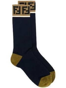 Fendi FF logo socks - Blue