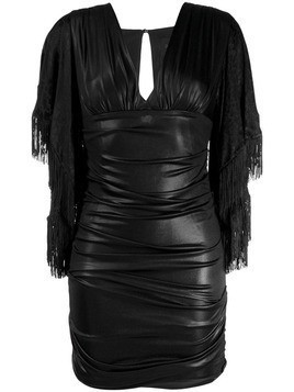 Christian Pellizzari draped design dress - Black