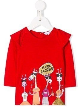 Little Marc Jacobs giraffe cartoon top - Red