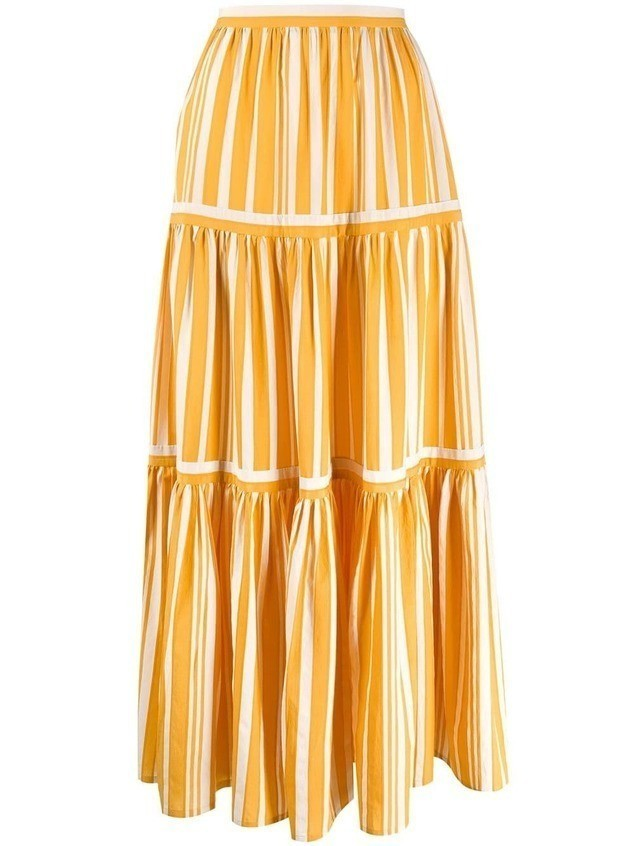 Chinti & Parker pleated maxi skirt - Yellow