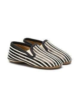 Pépé Kids striped slippers - Black