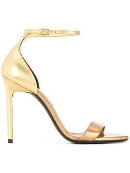 Saint Laurent Amber 105 sandals - Metallic