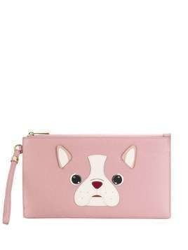 Furla flat dog clutch bag - PINK