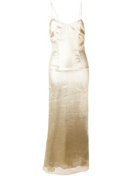 De La Vali glitter effect long dress - Gold