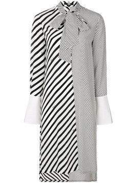 Karl Lagerfeld striped shirt dress - Black
