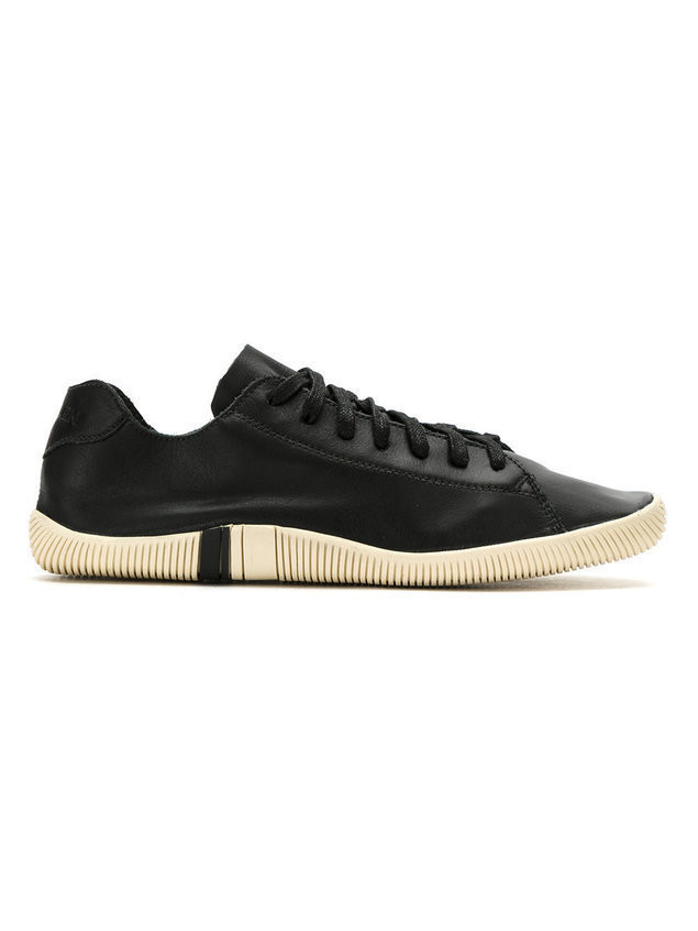 Osklen leather lace-up sneakers - Black