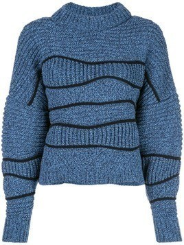 Maison Ullens chunky knit sweater - Blue