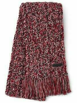 Prada fringed knitted scarf - Red