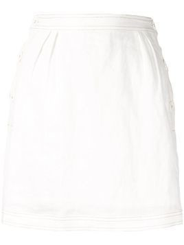 Suboo Gina button skirt - White