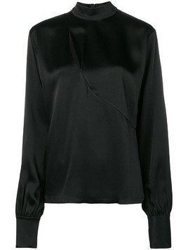 David Koma chest cut-out detail blouse - Black